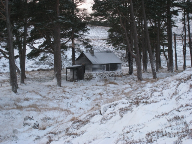 Bob Scott's Bothy in winter