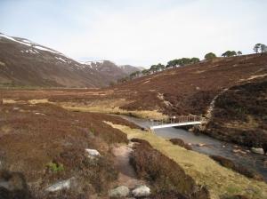 The 'metal bridge' at Derry Dam, Glen Derry