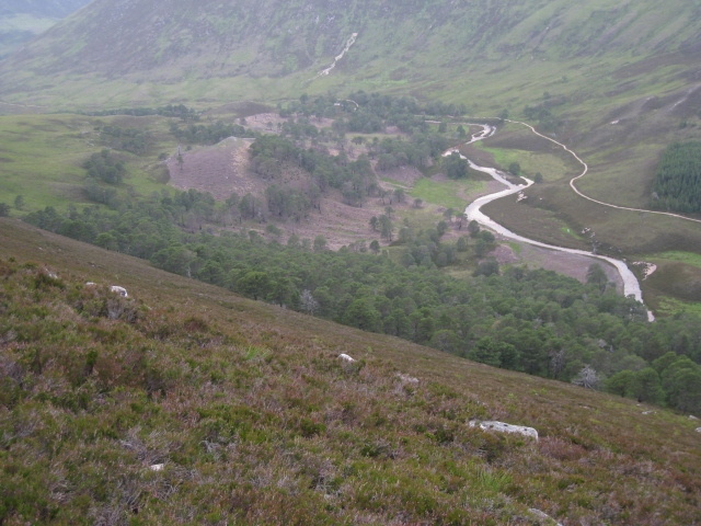 View of Glen Luibeg from Sgor Dubh, Cairngorms