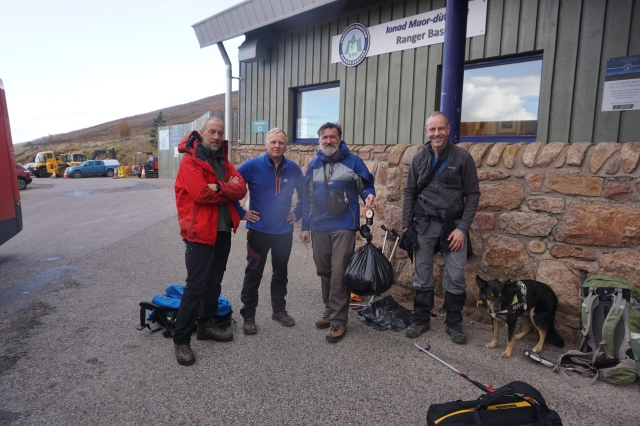 Litter picking in the Cairngorms. Real3Peaks Challenge
